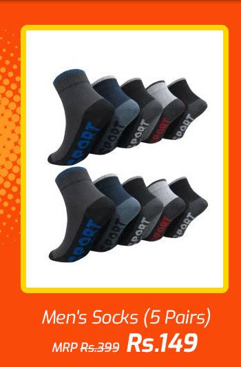 Men's Socks (5 Pairs)