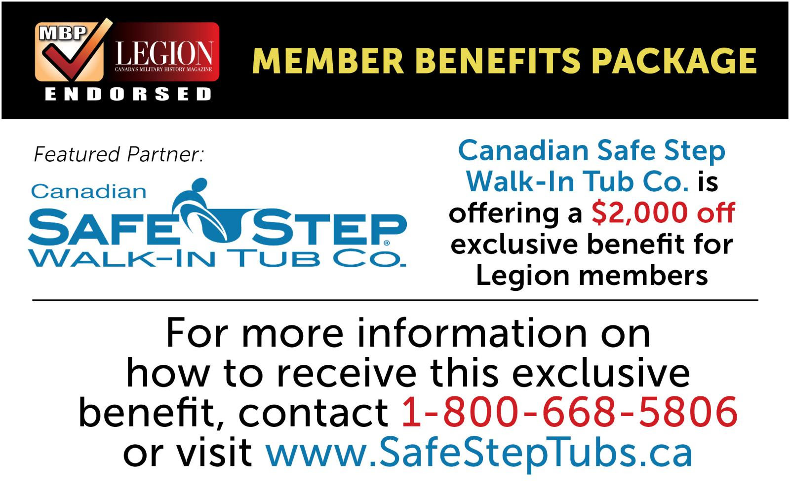 SafeSteps Walk in Tubs Ad