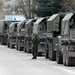 Russian army vehicles in the Crimean town of Balaclava on Saturday.