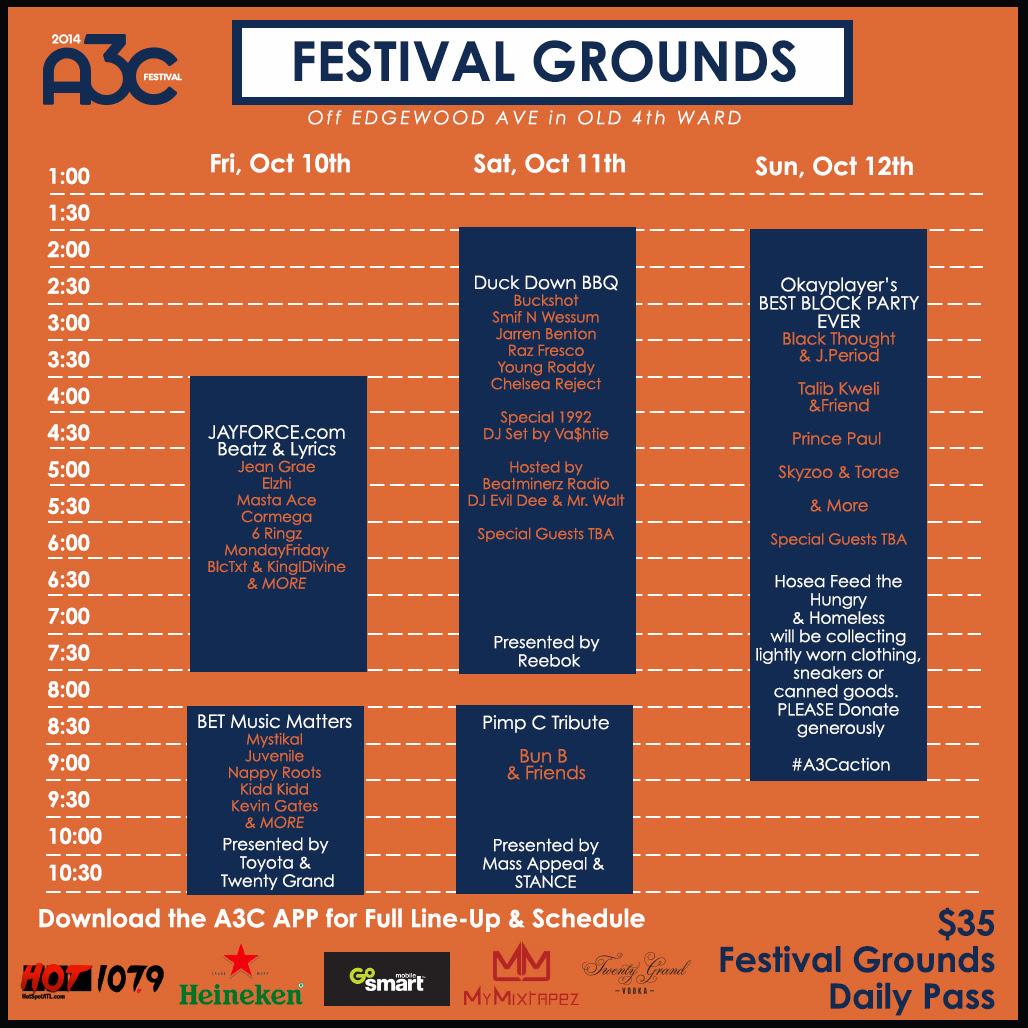 A3Cfestivalgroundsschedule
