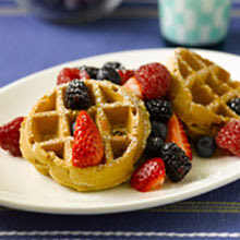 Waffles and berries.