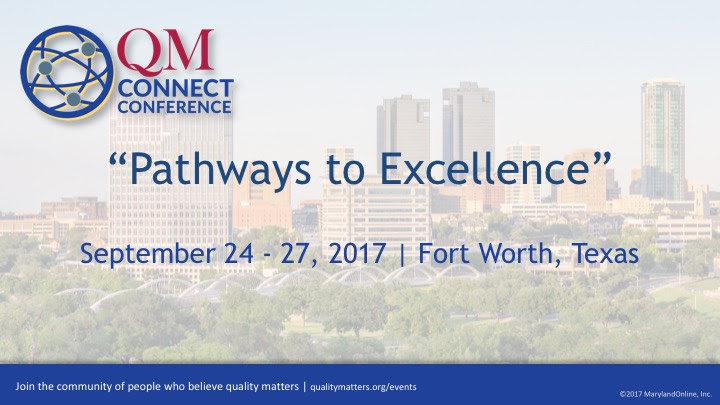 QM Connect Pathways to Excellence introductory screen