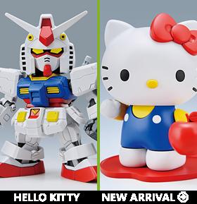 Gundam vs Hello Kitty SD EX-Standard 016 RX-78-2 Gundam & Hello Kitty Model Kit Set