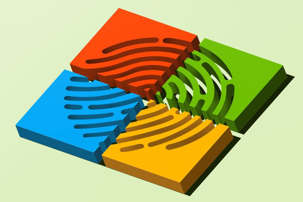 Fingerprint on a 3D Microsoft logo