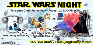 Star Wars Night  Palisades Credit Union Park August 12 @ 5:30 PM