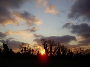 Sunrise in early February - the welcome light heralding longer days to come