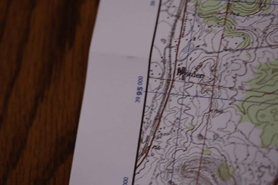 topo topographic map northing coordinates
