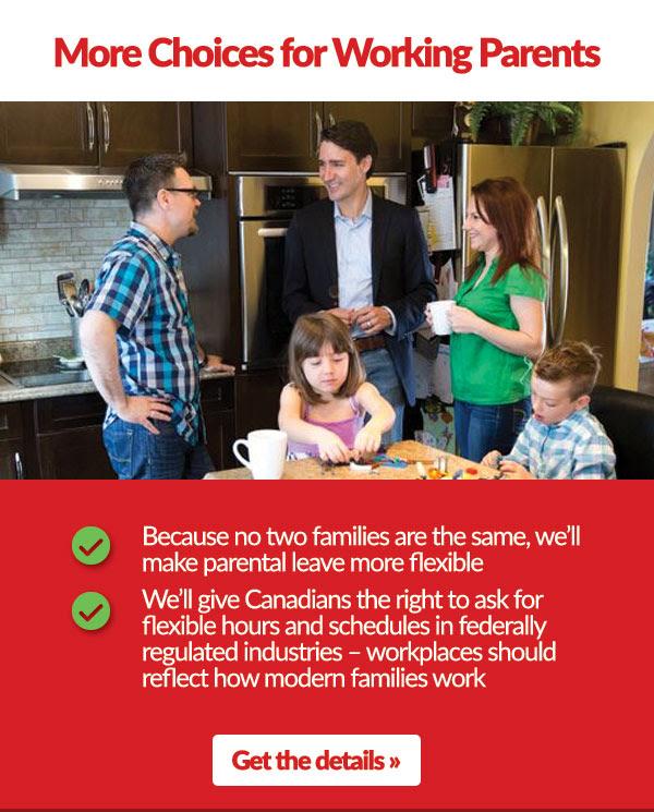 MORE FLEXIBLE PARENTAL BENEFITS UNDER EMPLOYMENT INSURANCE (EI)