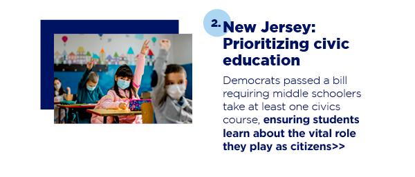 2. New Jersey: Prioritizing civic education