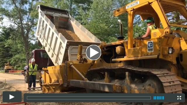 Munson Earth Moving lays down new sub-base for the Burlington Greenway bike path rehabilition