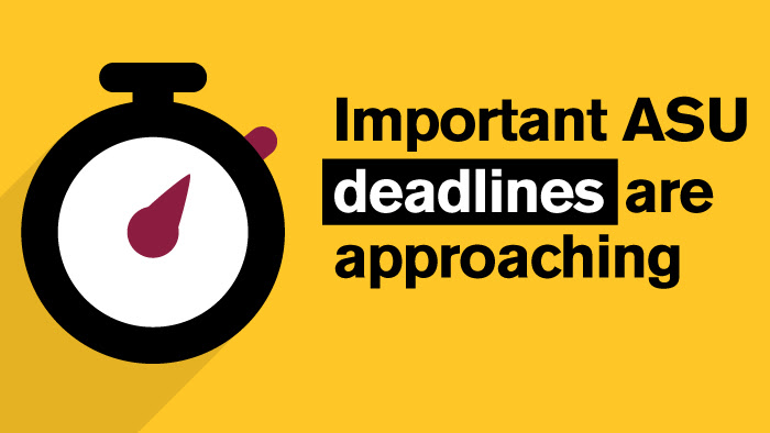 Important deadlines are approaching – Jan. 15