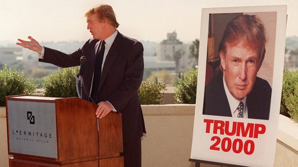 Donald Trump makes an appearance atop a Beverly Hills,