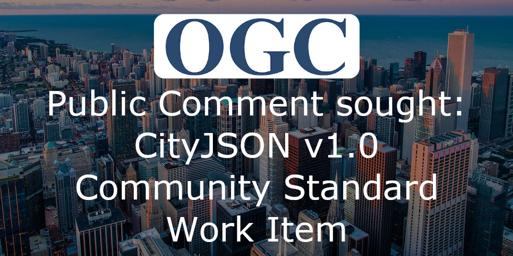 CityJSON; Public Comment sought