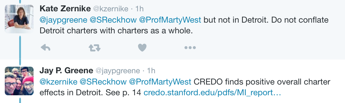 Twitter exchange over NYT's misleading reporting on charter schools