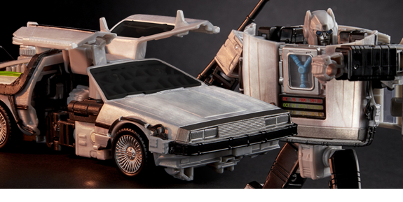 Transformers x Back to the Future Collaborative Generations Gigawatt