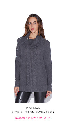 Shop DOLMAN SIDE BUTTON SWEATER