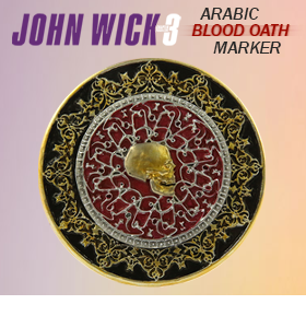 JOHN WICK: CHAPTER 3 PARABELLUM ARABIC BLOOD OATH MARKER REPLICA