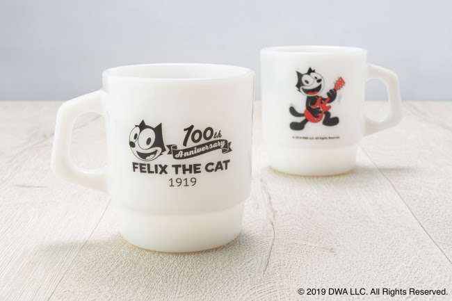 Fire-King スタッキングマグ FELIX THE CAT [100th LOGO]
