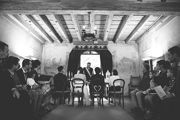 matrimonio anni 50 cerimonia civile in Villa Balladoro