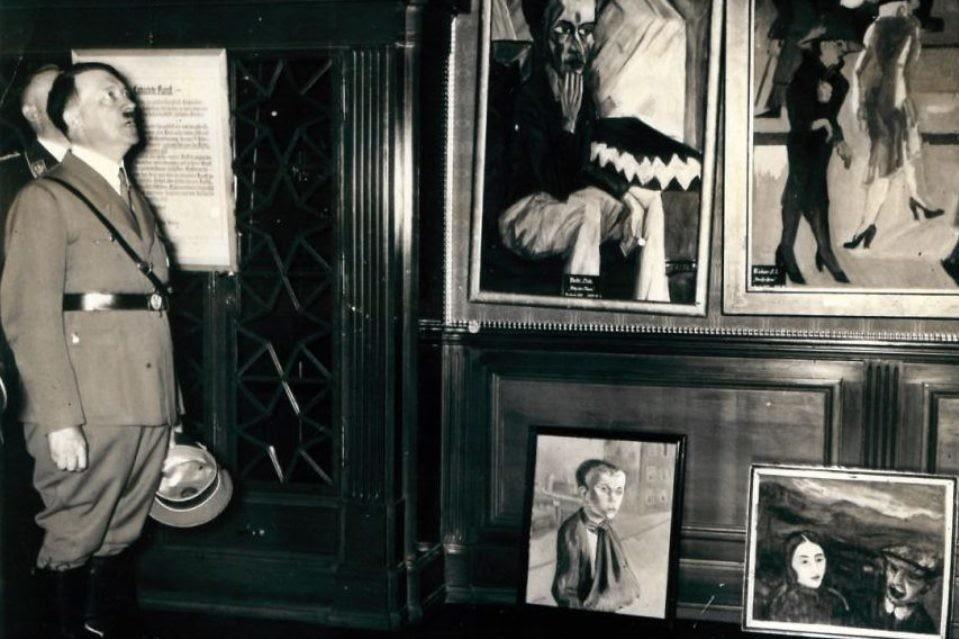 Image result for фото дегенеративное искусство геббельс гитлер