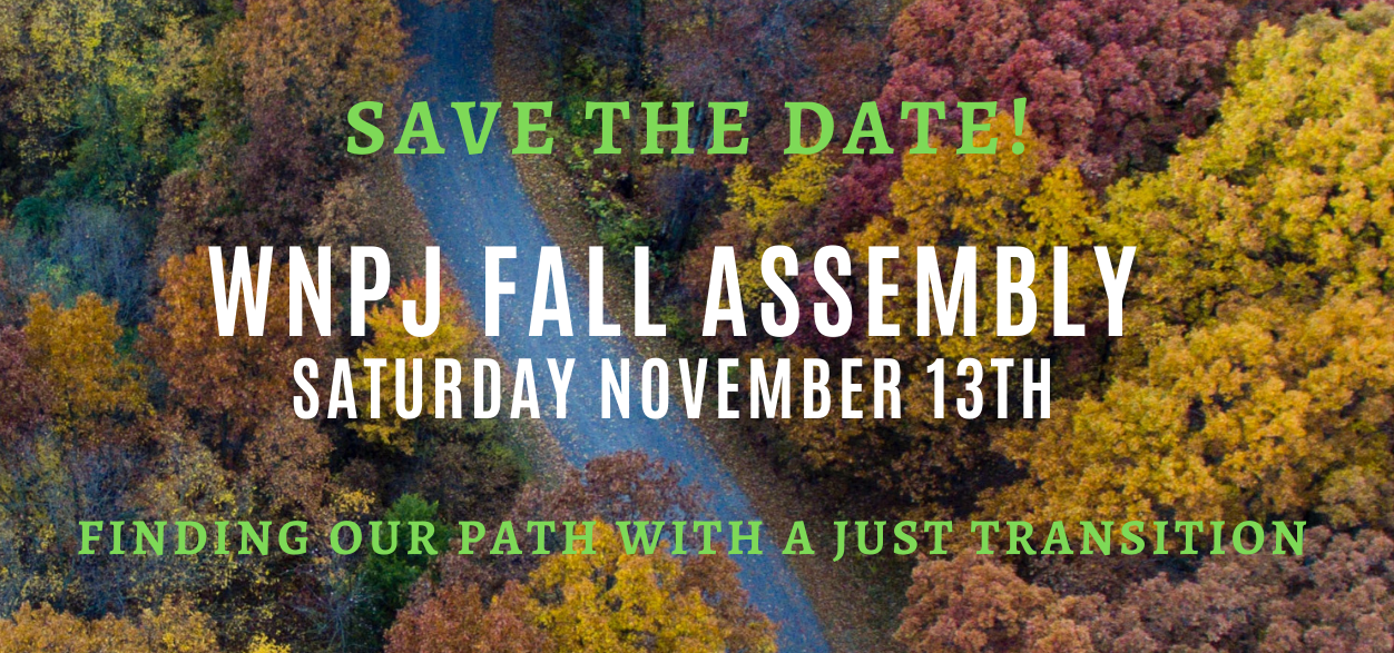 Save the date WNPJ Fall Assembly!