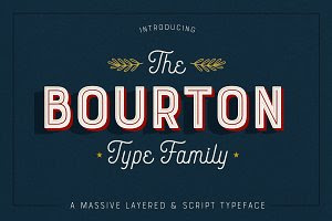 Bourton • 34 Fonts • 75% Off