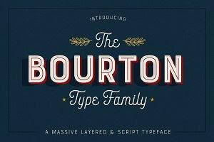 Bourton • 34 Fonts • 75% Off