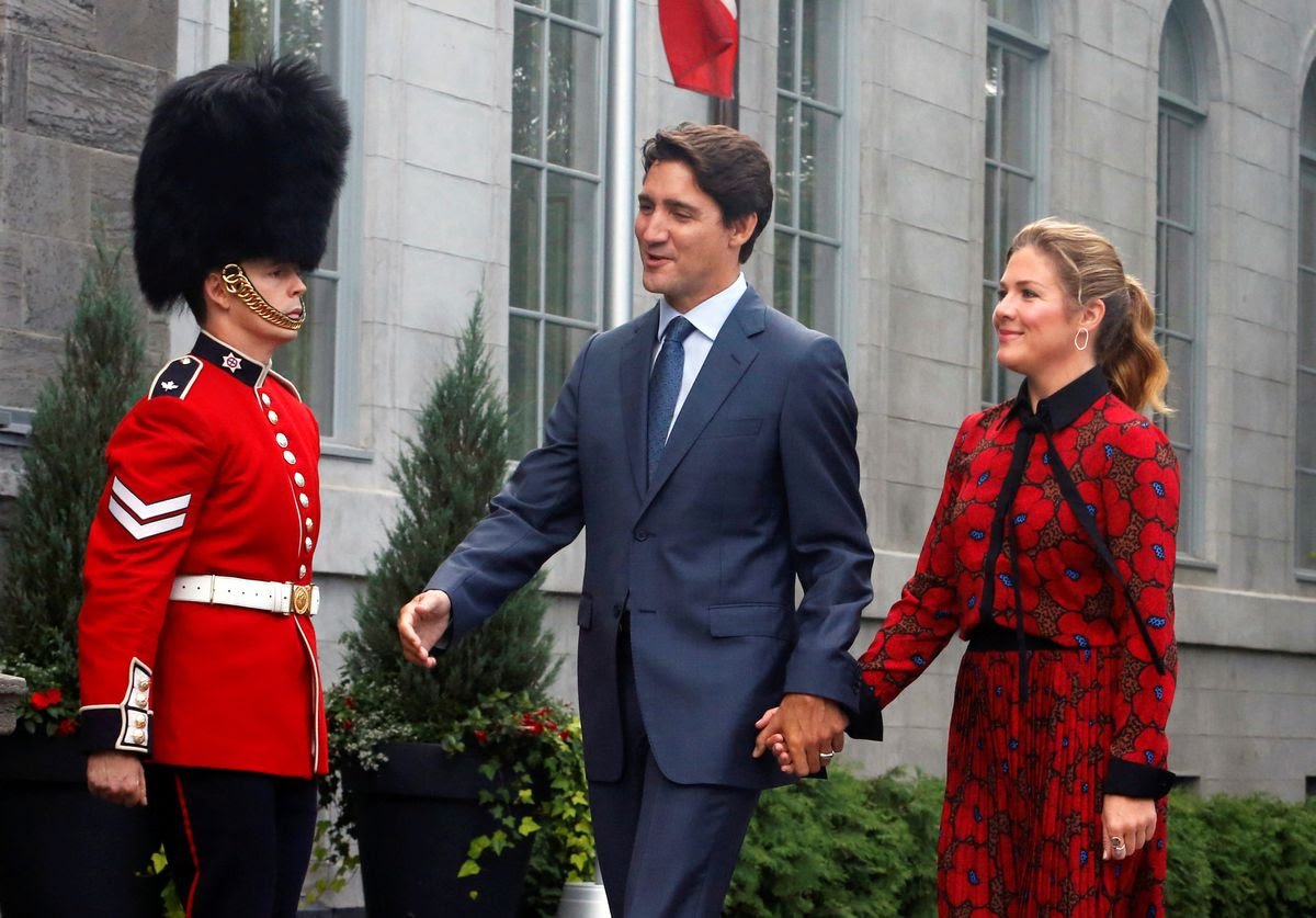 Justin Trudeau with uard
