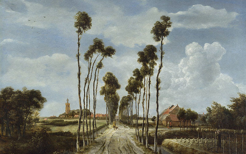 Meindert Hobbema, The Avenue at Middelharnis, 1689 © The National Gallery, London