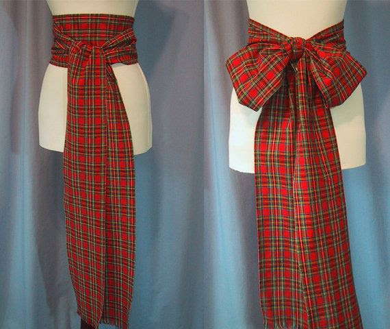 Image result for red and black womens scottish sash