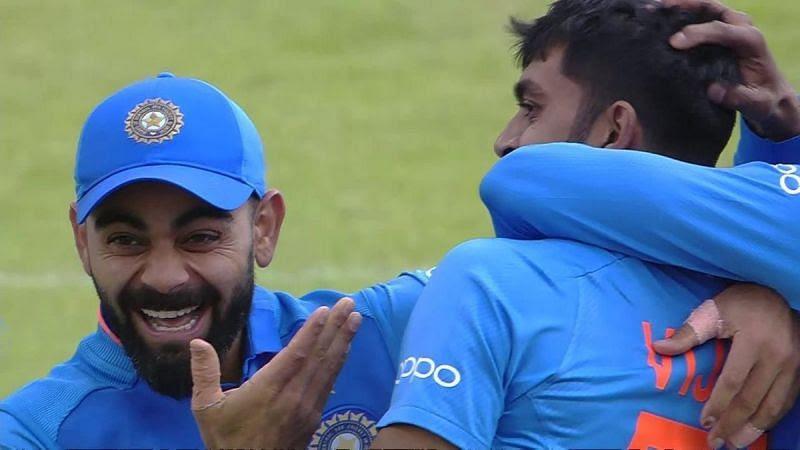 Virat Kohli was extremely happy with the way Vijay Shankar bowled against Pakistan