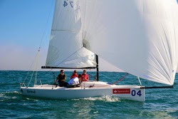 J/70 sailing off Algarrobo, Chile
