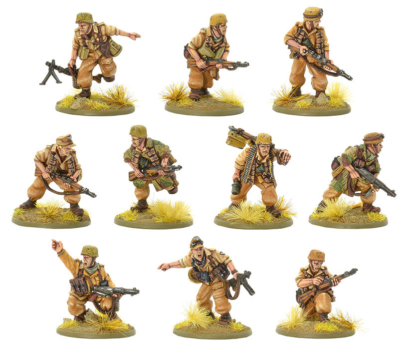 Pre-order Bolt Action German Fallschirmjager Squad Tropical Uniform