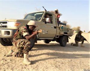 Members of the Nigerian army. (Wikipedia, VOA Nicolas Pinalult