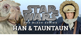 "STAR WARS DELUXE 6"" BLACK SERIES HAN & TAUNTAUN"