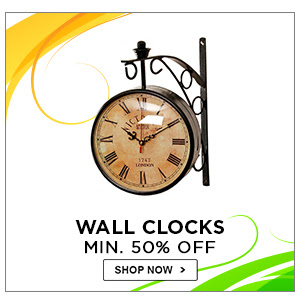 Wall Clocks | Minimum 50% Off