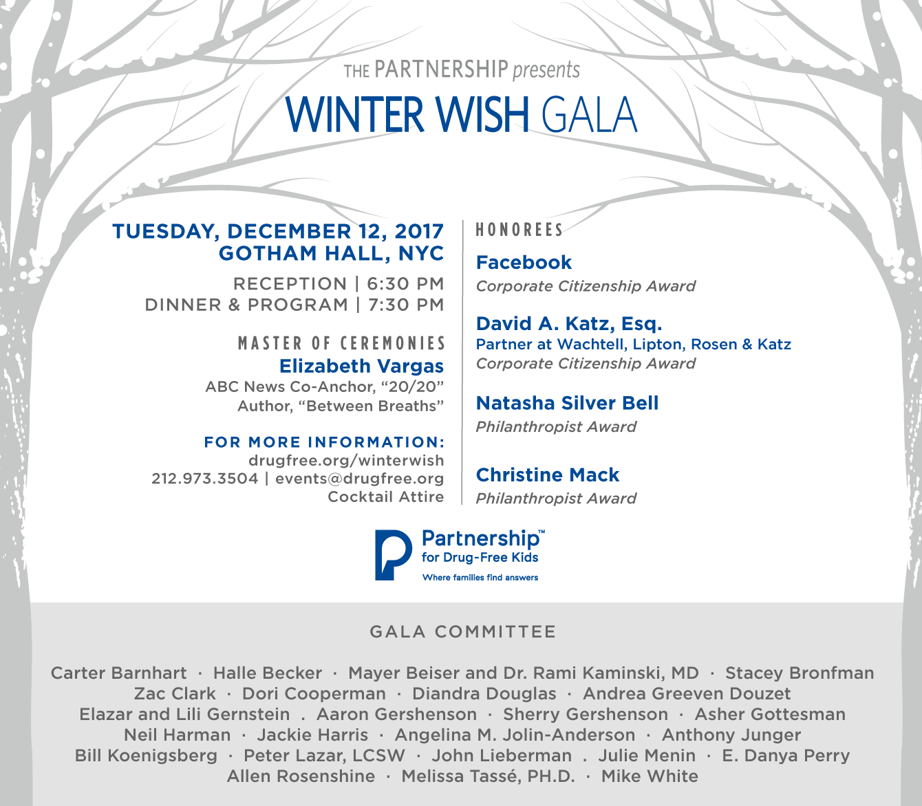 We Are Delighted to Invite You to Our Winter Wish Gala