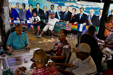 Domino Park last week in the Little Havana neighborhood of Miami. Florida may present the most punishing test of Donald J. Trump's election strategy, as Hispanics there, including conservative-leaning Cuban-Americans, turn away from his candidacy.