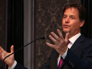 Nick Clegg during an event in Mumbai. AP