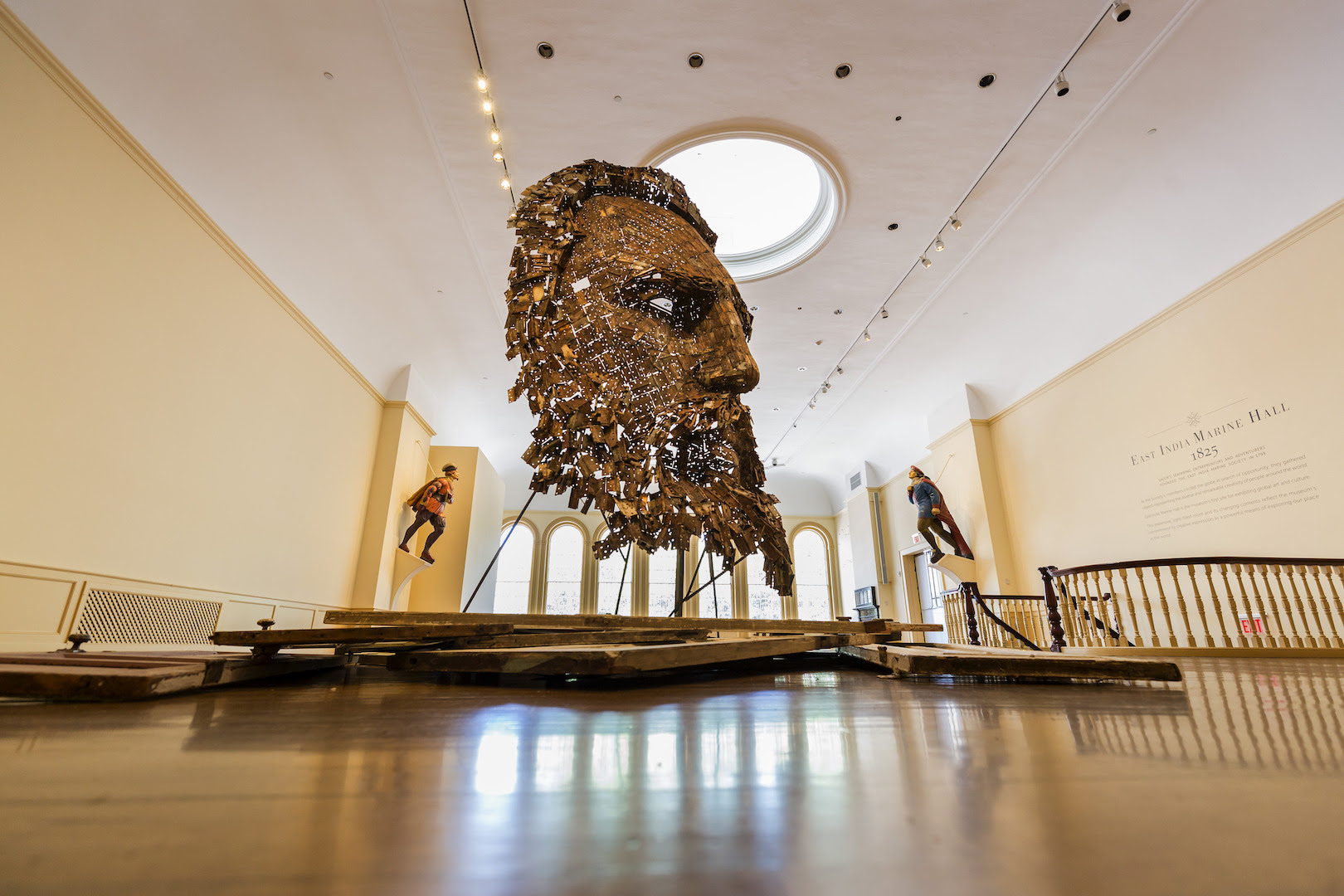 Installation image of Yoan Capote, Immanence, 2015. © Peabody Essex Museum. Photography by Ken Sawyer.