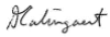 image of the signature of our acting president