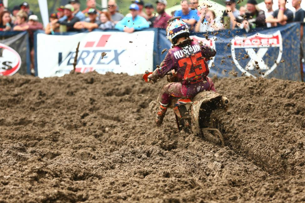 Musquin battled to a hard-fought third-place finish.