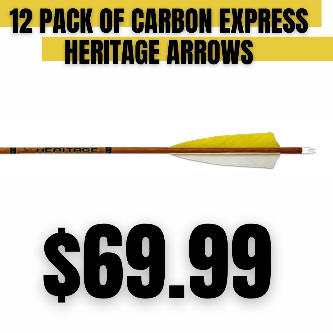 2020 Cyber Monday 12 Pack Carbon Express Heritage Arrows