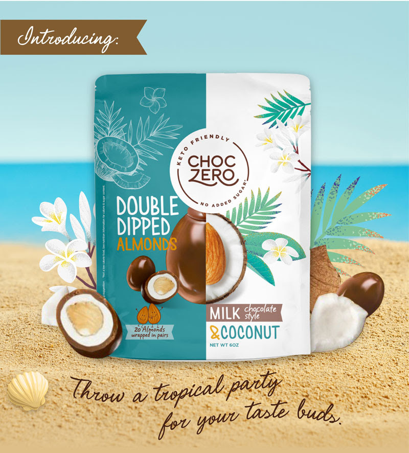 Sugarfree Chocolate Coconut Covered Almonds