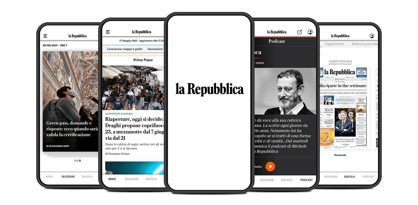La nuova app di Repubblica
