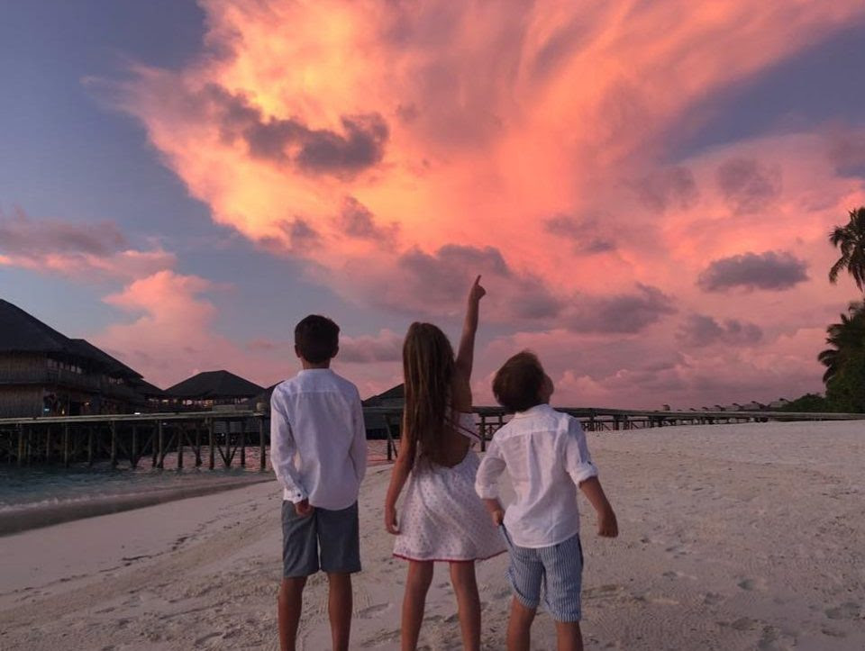 Holly Willoughby shares rare picture of all three of her children during heavenly Maldives holiday