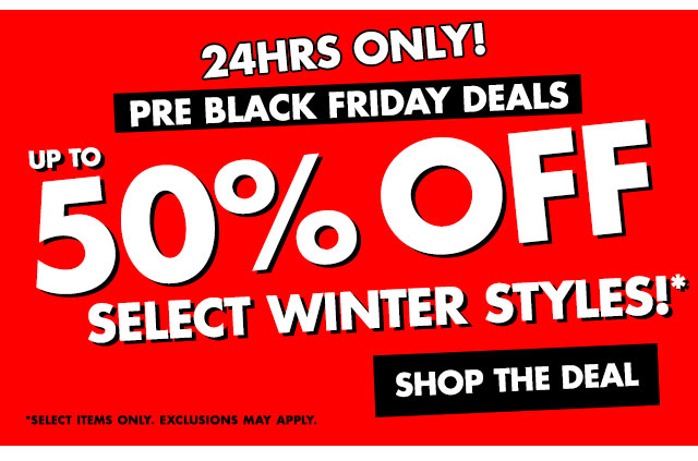 Day 4: 50% OFF WINTERWEAR. 24 HOURS ONLY