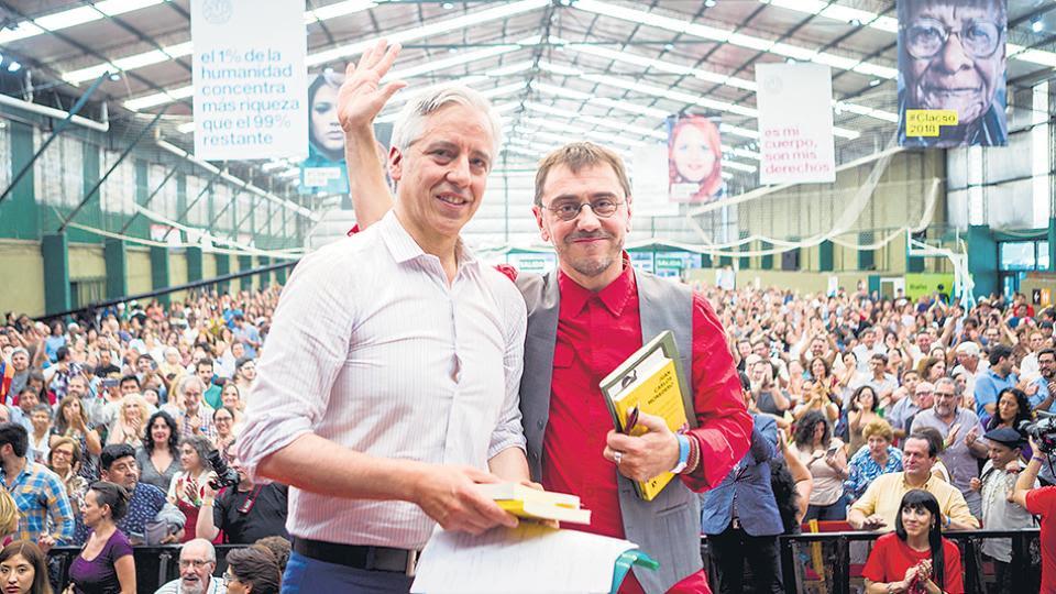 García Linera y Monedero participaron en el segundo día del foro organizado por Clacso.