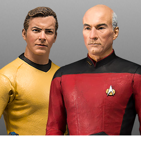 MCFARLANE STAR TREK KIRK & PICARD ACTION FIGURES