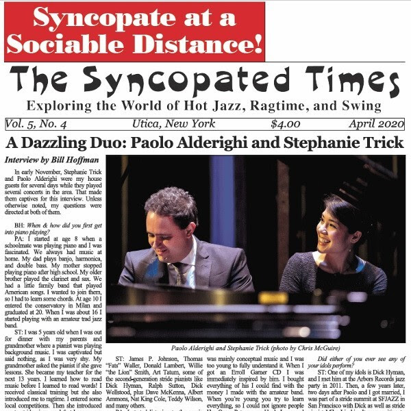 Syncopated Times 2020-03 March cover 600
